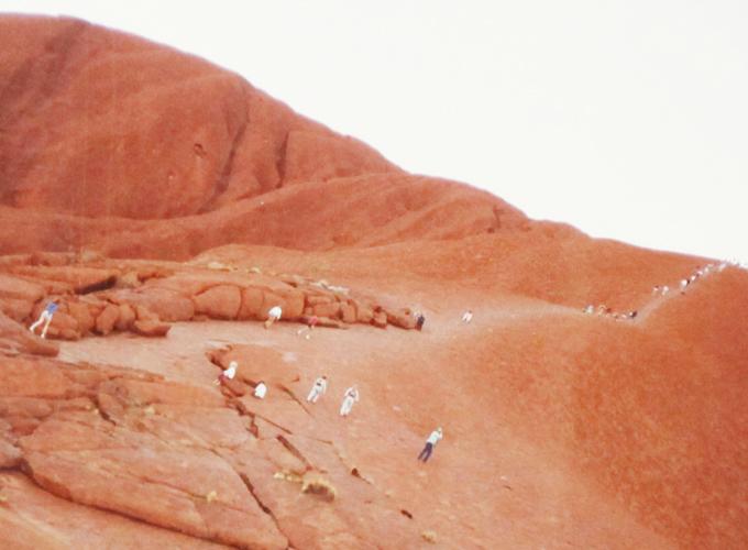 エアズロック・オーストラリア。On the too of Ayers Rock.