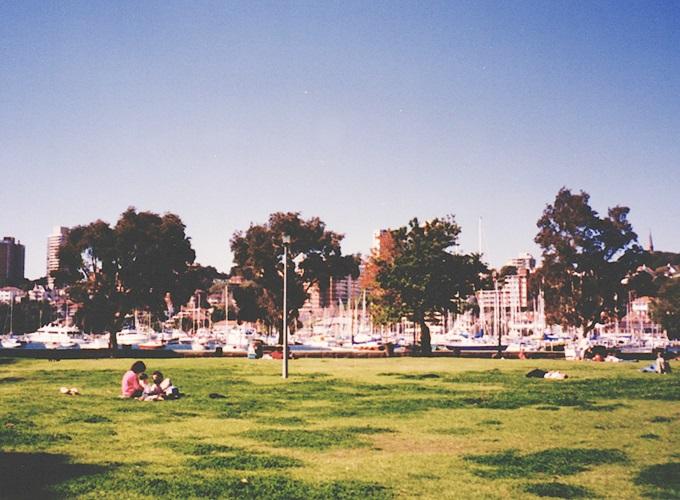 オーストラリア・シドニー。1986, Elizabeth bay.