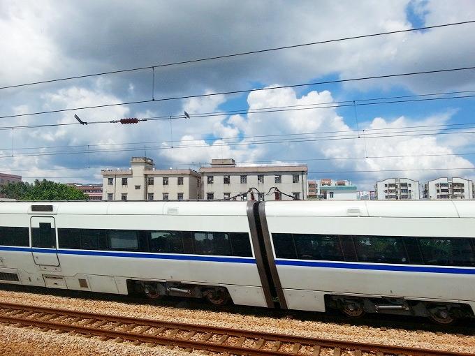 中国列車の車窓から