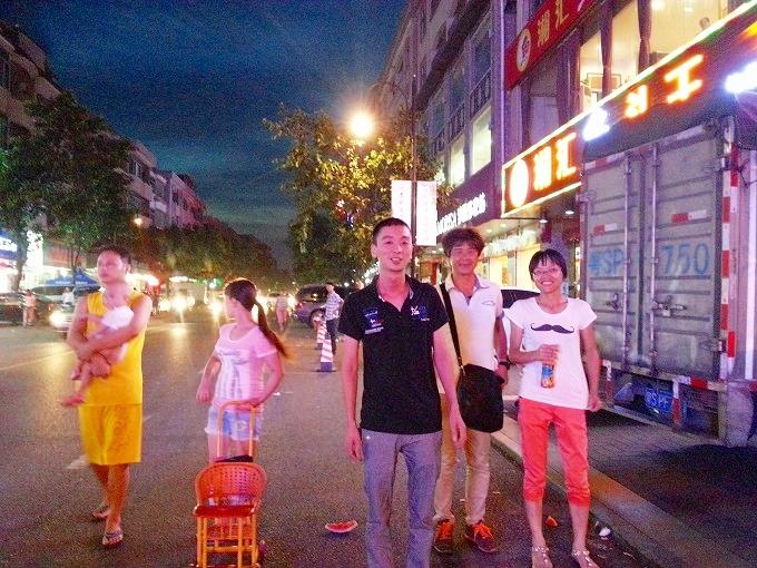 東莞の夜の街(Night street in Dongguan.)