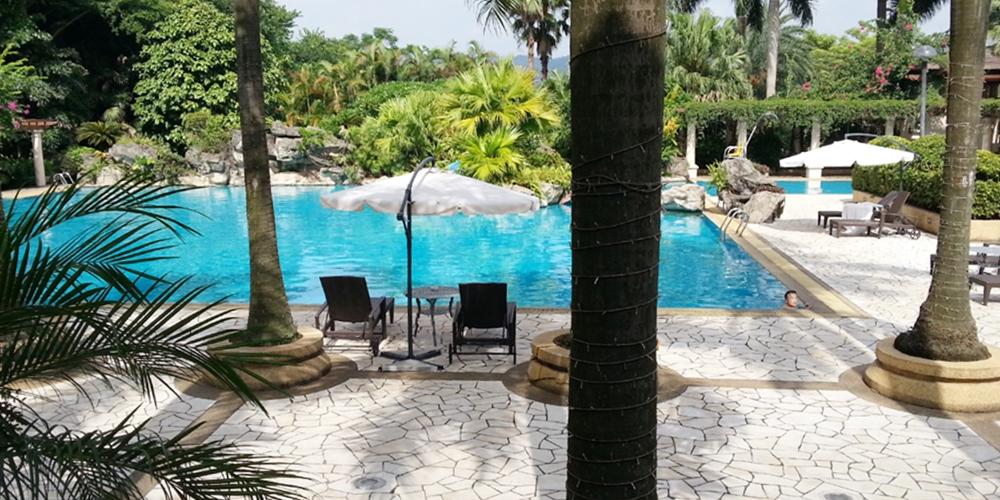 中国 広東省 東莞ソフィテル Sofitel Royal Lagoon Hotel in Dongguan, China.