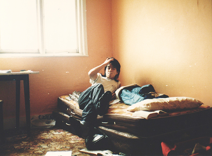 イギリス。My room in the empty house in Wood green, London.