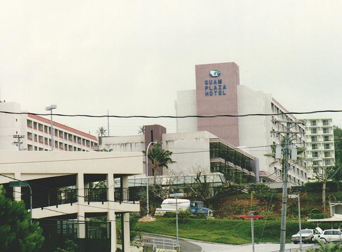 アメリカ領・グアム。Guam plaza hotel.