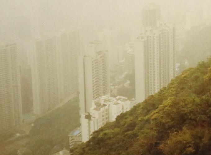 香港。View from tram.