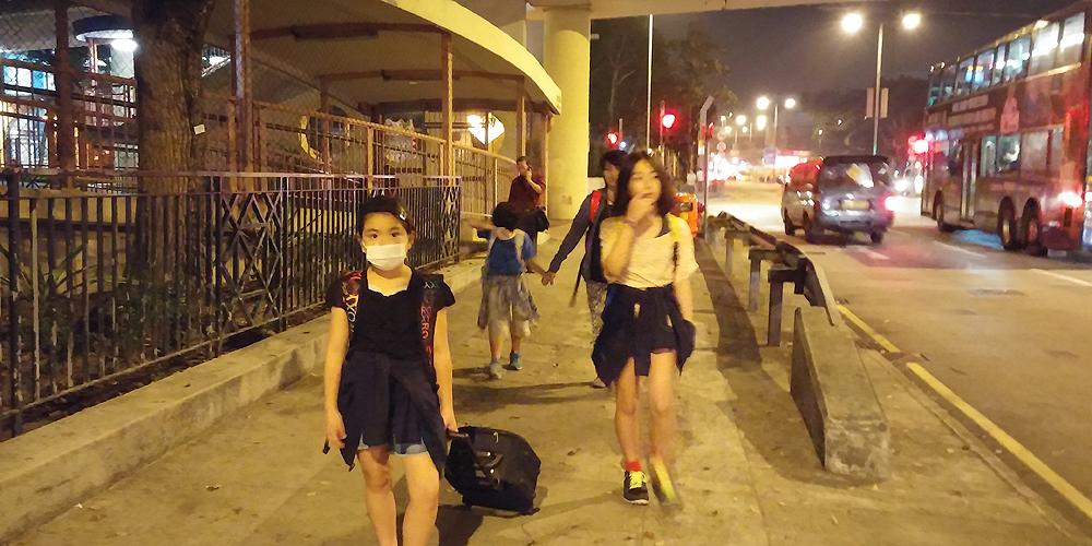 香港 九龍 Ovolo Hotelへの道(Way to Hotel Ovolo West Kowloon.)