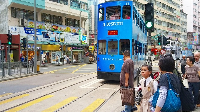 香港トラム(英:Hong Kong Tramways 中:香港電車)香港島散策(Hong Kong Island.)