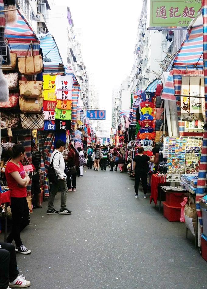 香港 九龍 旺角 女人街(Nuren jie.)