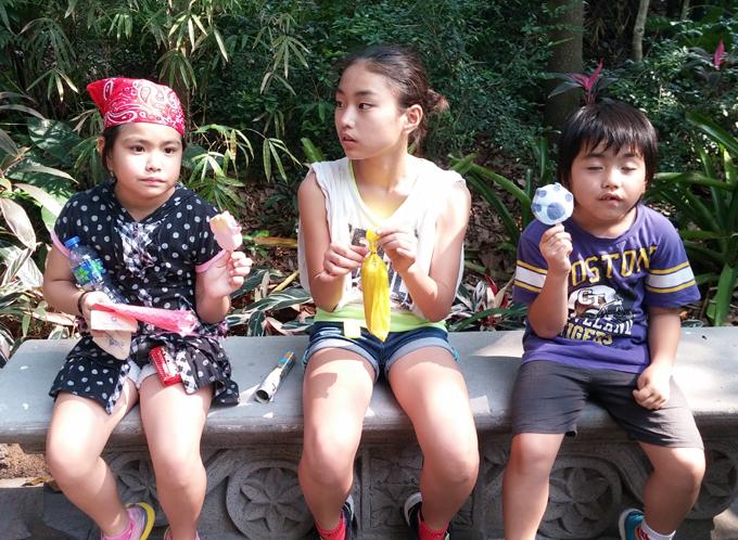アイスクリームもキャラクター物です。香港ディズニーランド(香港迪士尼樂園/Hong Kong Disneyland.)。