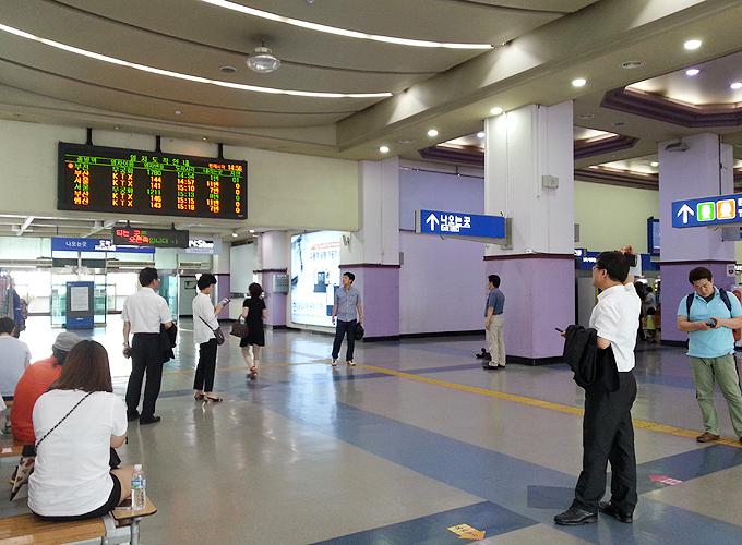 韓国ソウル旅行。Daegu Station.