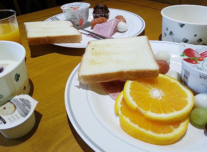 韓国ソウル旅行。ホテル ノーステル(Hotel Northtel)朝食