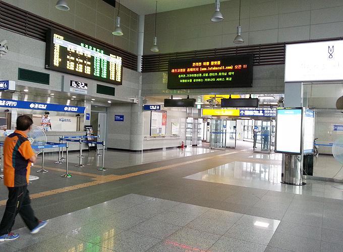 韓国 ソウル旅行 慶山市 キョンサン市 慶山駅の構内