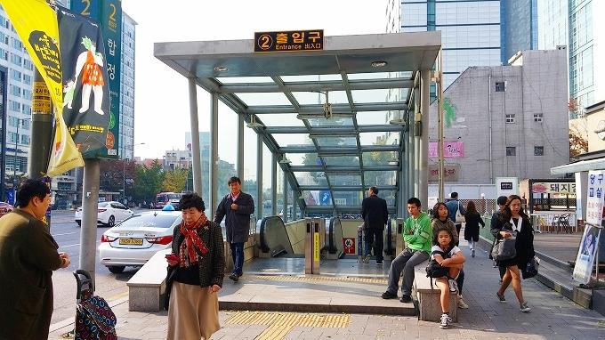 韓国・ソウル。Hapjeong(合井)駅