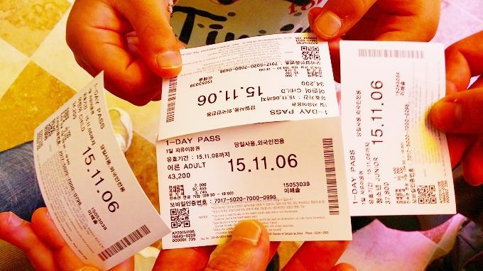 韓国・ソウル。チケット - ロッテワールド(Lotte World.)