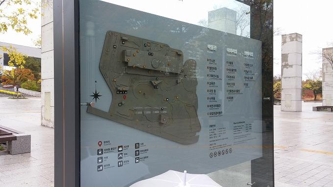 韓国。ソウル。博物館入口の施設案内板 - 国立中央博物館(National Hangeul Museum.)