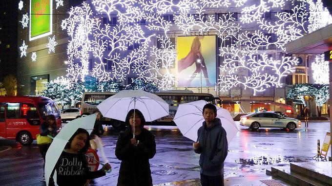 韓国。ソウル。クリスマス・イルミネーション - 明洞の夜(Night in Myeong-dong.)