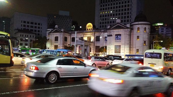 韓国。ソウル。韓国銀行紙幣金融博物館 - 明洞の夜(Night in Myeong-dong.)