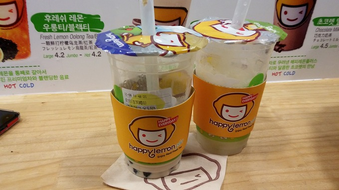 韓国。ソウル。Happy Lemon plus - 明洞の夜(Night in Myeong-dong.)
