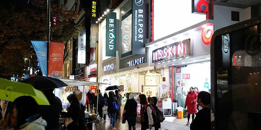 韓国ソウル。明洞の夜(Night in Myeong-dong.)