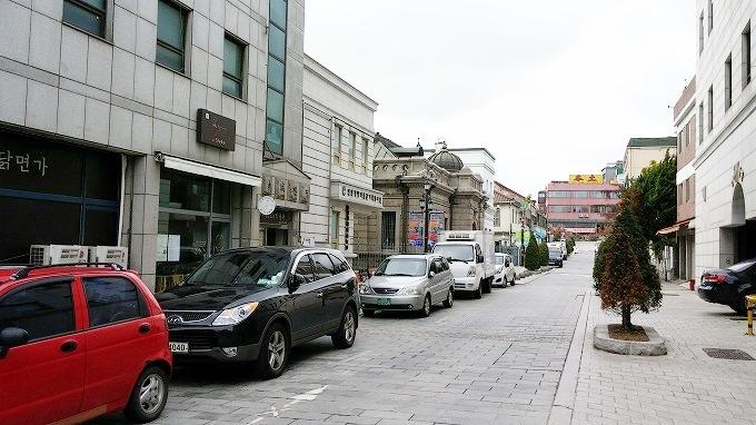 韓国 仁川旧日本人街 仁川開港博物館のある通り