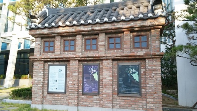 韓国。ソウル中区(チュング)北倉洞の朝・レンガの歴史資産