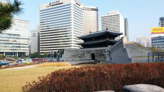 韓国。ソウル中区(チュング)北倉洞の朝