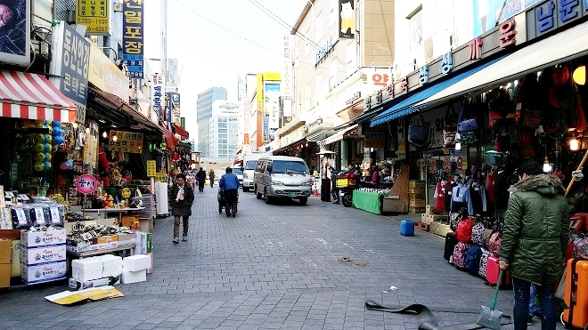 韓国。韓国ソウル・南大門市場(ナンデムンシジャン)