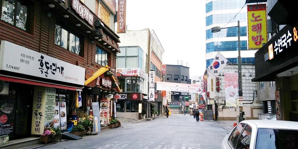 韓国ソウル中区(チュング)北倉洞の朝
