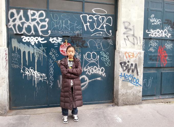 フランス・リオン。Graffiti. I think it's rare to find in France.