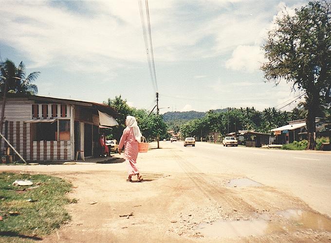 マレーシア。village in malaysia.