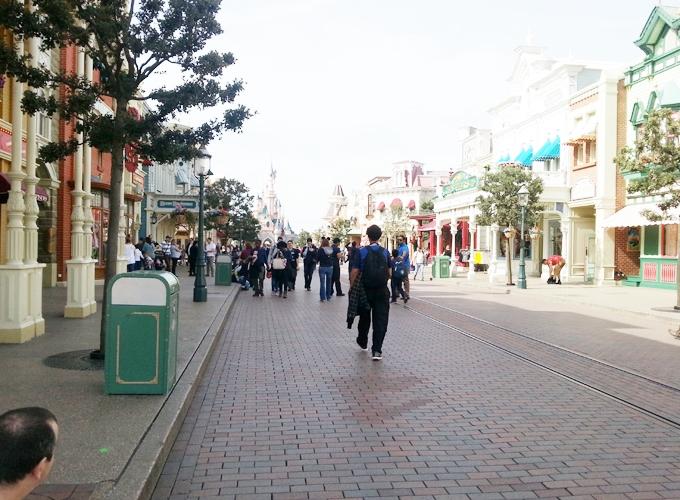 フランス・パリ:ディズニーランド。Main Street USA.