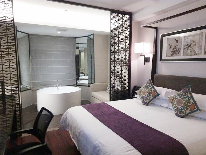 中国 上海・ベッドルーム/ ナラダブティックホテル上海ホンコウ