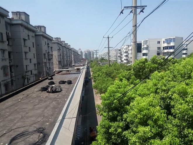 中華人民共和国 上海 江楊北路の小区エリア