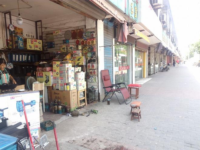 中華人民共和国 上海 江楊北路 商店街