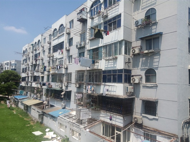 中華人民共和国 上海 江楊北路の集合住宅