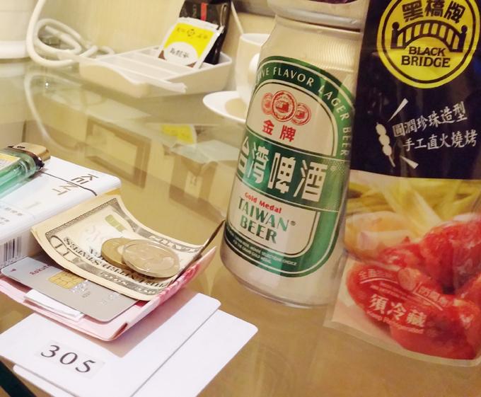 台湾 台北市 士林のホテル 台湾ビール