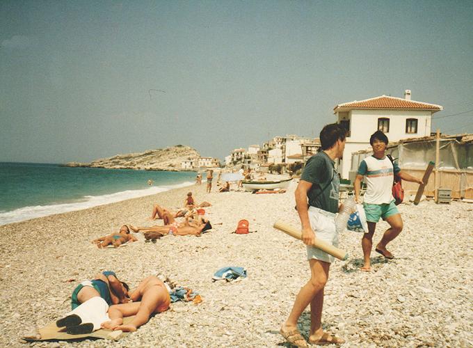 港町イズミール。トルコ。Beach in Izmir.