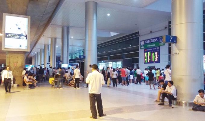 ベトナム・ホーチミン。タンソンニャット国際空港