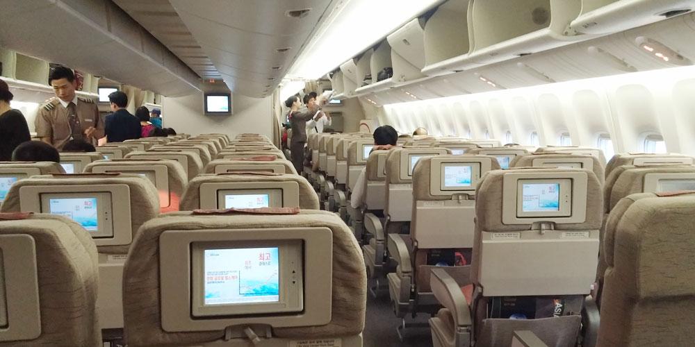 ソウル→ホーチミン、アシアナ機内