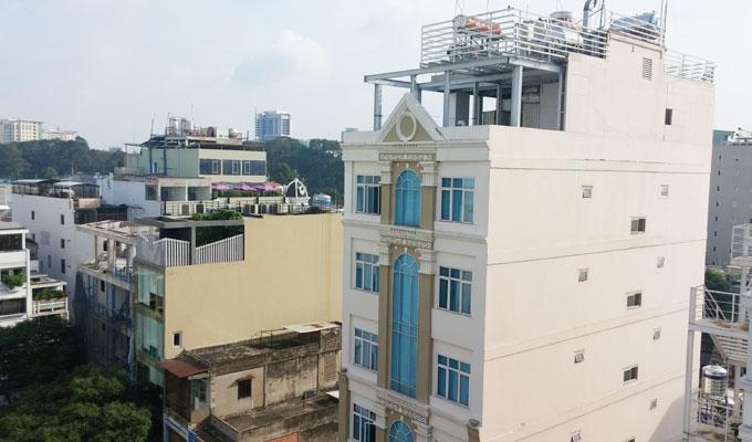 ベトナム・ホーチミン市。ベンタインの街の風景。