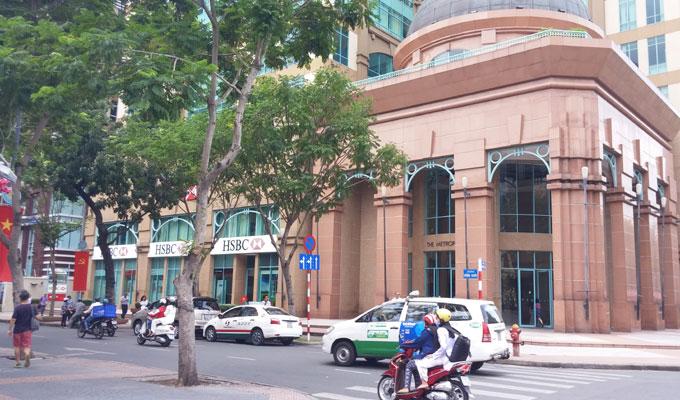 ベトナム・ホーチミン市。HSBC(香港上海銀行)