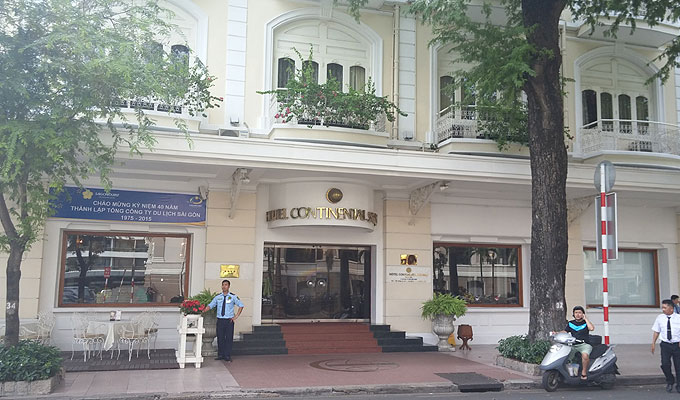 ベトナム・ホーチミン市。HOTEL CONTINENTAL SAIGON