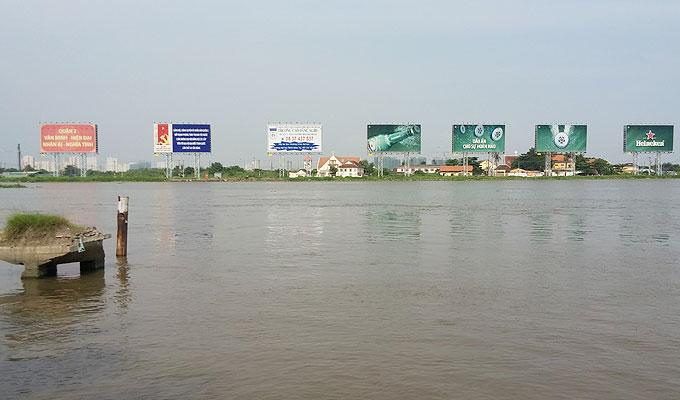 ベトナム・ホーチミン市。サイゴン川(Saigon Rever.)
