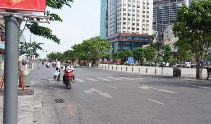 ベトナム・ホーチミン市。グエンフエ通り