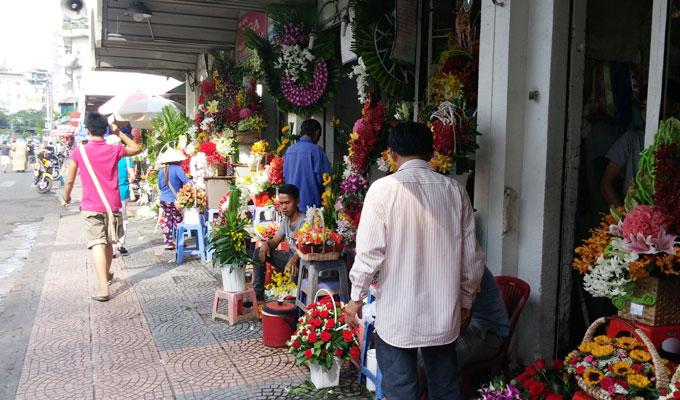 ベトナム・ホーチミン市。ベンタイン市場。