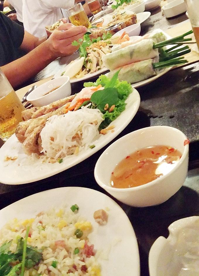 ベトナム・ホーチミン市。ホーチミンの会食(Dinner in HoChiMin.)