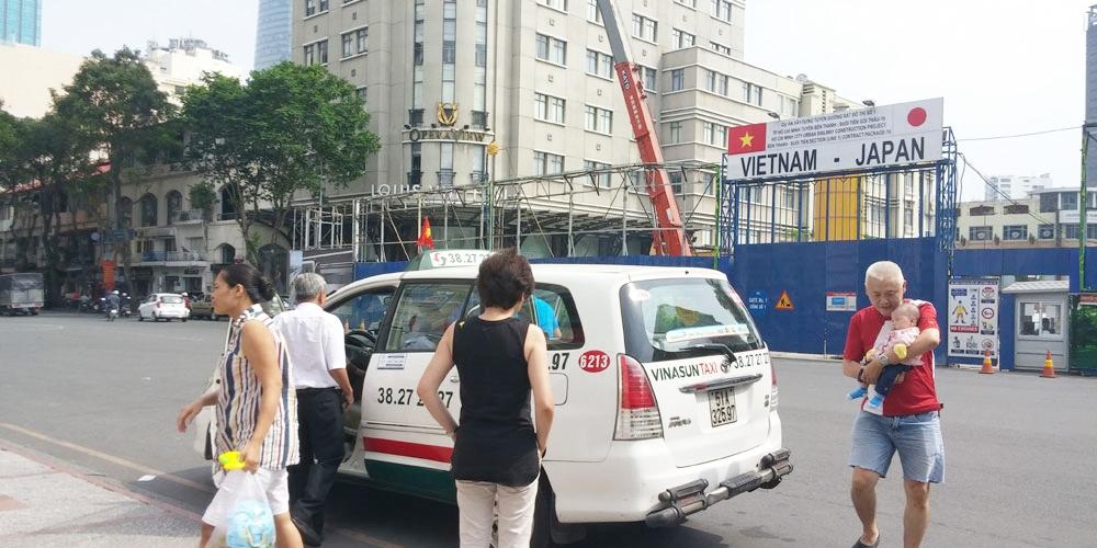 ベトナム・ホーチミン市。ドンコイ通りを南へ(Dong Khoi Street to the south.)