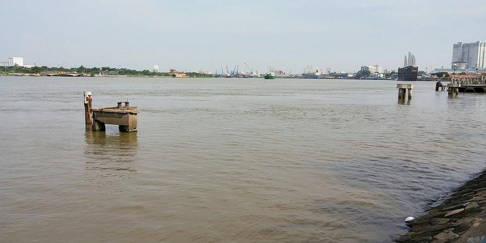 ベトナム・ホーチミン市。サイゴン川(Saigon River.)