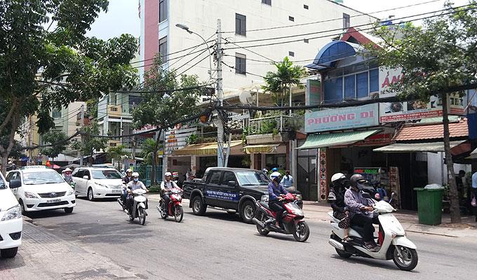 ベトナム・ホーチミン市。タクシー移動。
