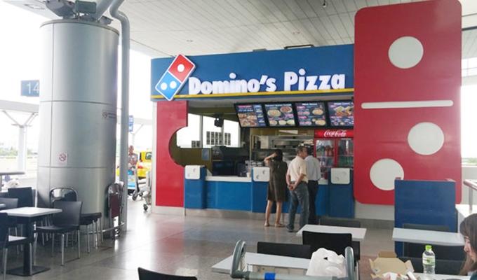 ベトナム・ホーチミン市。ホーチミン・シティ。タンソンニャット国際空港。Diamond Pizza。