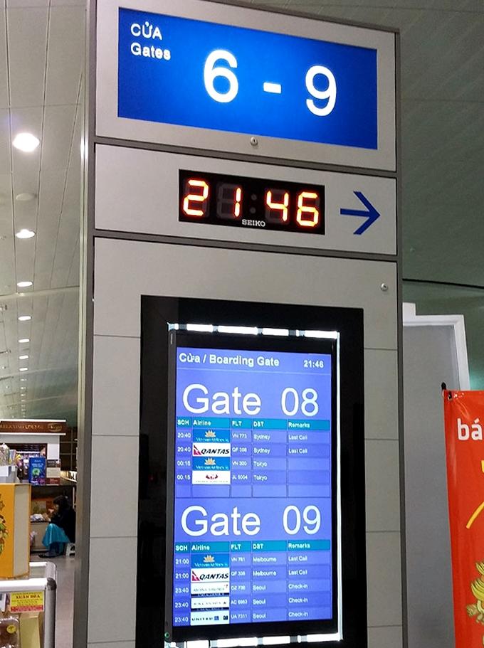 ベトナム・ホーチミン市。ホーチミン・シティ。タンソンニャット国際空港。